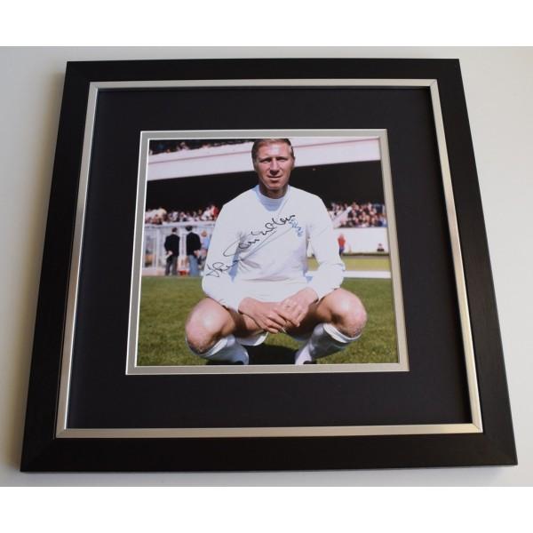 Jack Charlton SIGNED Framed LARGE Square Photo Autograph display Leeds United  Memorabilia  AFTAL & COA perfect gift