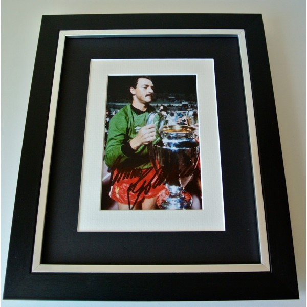 Bruce Grobbelaar SIGNED 10X8 FRAMED Photo Autograph Display Liverpool & COA Perfect Gift