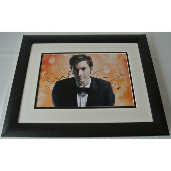 David Tennant SIGNED FRAMED Photo Autograph 16x12 LARGE display Doctor Who & COA AFTAL TV Memorabilia PERFECT GIFT
