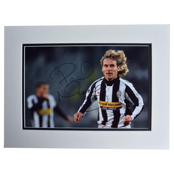 Pavel Nedved SIGNED autograph 16x12 photo display Juventus Football AFTAL  COA Memorabilia PERFECT GIFT