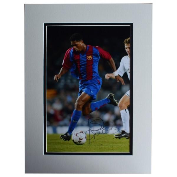 Patrick Kluivert SIGNED autograph 16x12 photo display Barcelona Football AFTAL  COA Memorabilia PERFECT GIFT