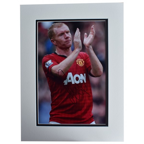 Paul Scholes SIGNED autograph 16x12 photo display Manchester United Football AFTAL  COA Memorabilia PERFECT GIFT