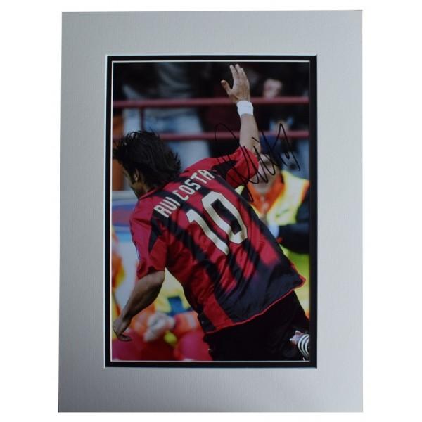 Rui Costa SIGNED autograph 16x12 photo display A.C. Milan Football AFTAL  COA Memorabilia PERFECT GIFT