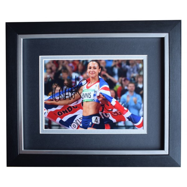 Jessica Ennis SIGNED 10x8 FRAMED Photo Autograph Display Olympic Athletics AFTAL  COA Memorabilia PERFECT GIFT