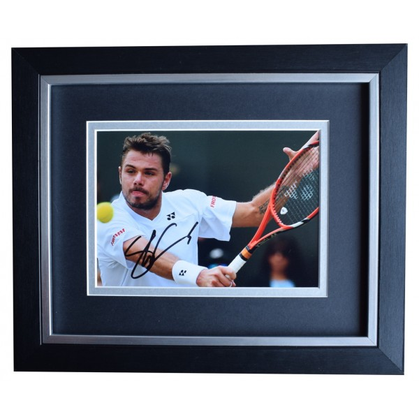 Stanislas Wawrinka SIGNED 10x8 FRAMED Photo Autograph Display Tennis Sport  AFTAL  COA Memorabilia PERFECT GIFT