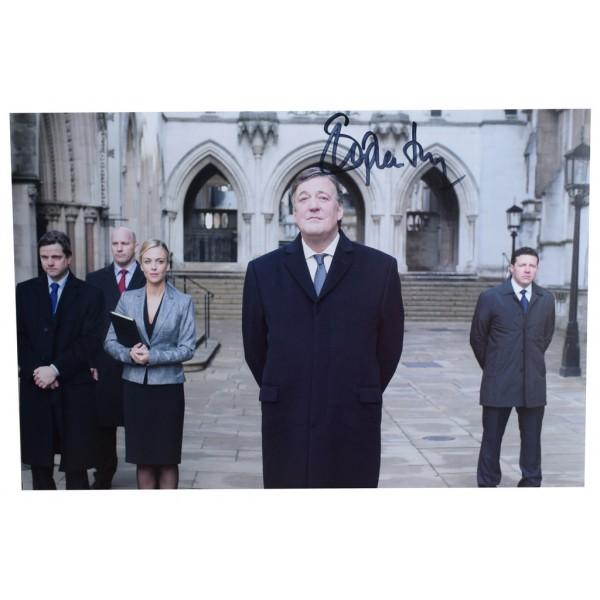 Stephen Fry 12x8 Photo Autograph 24 TV Memorabilia CLEARANCE  AFTAL  COA Memorabilia