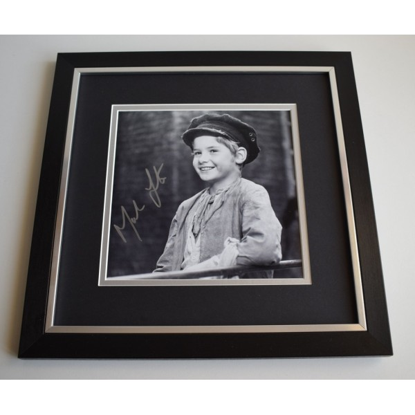 Mark Lester SIGNED Framed LARGE Square Photo Autograph display Film   Memorabilia  AFTAL & COA perfect gift