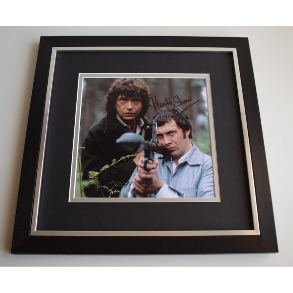 Martin Shaw SIGNED Framed LARGE Square Photo Autograph display TV    Memorabilia  AFTAL & COA perfect gift