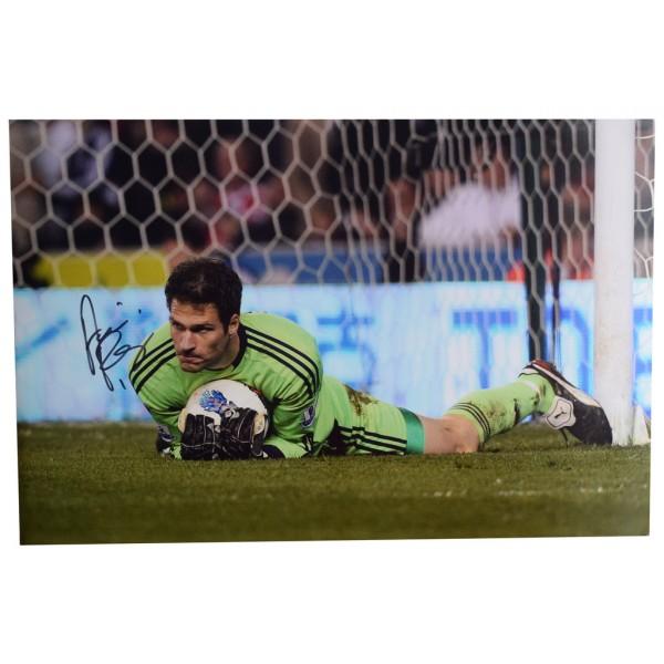 Asmir Begovic Photo Autograph Stoke City Football Memorabilia CLEARANCE  AFTAL  COA Memorabilia PERFECT GIFT