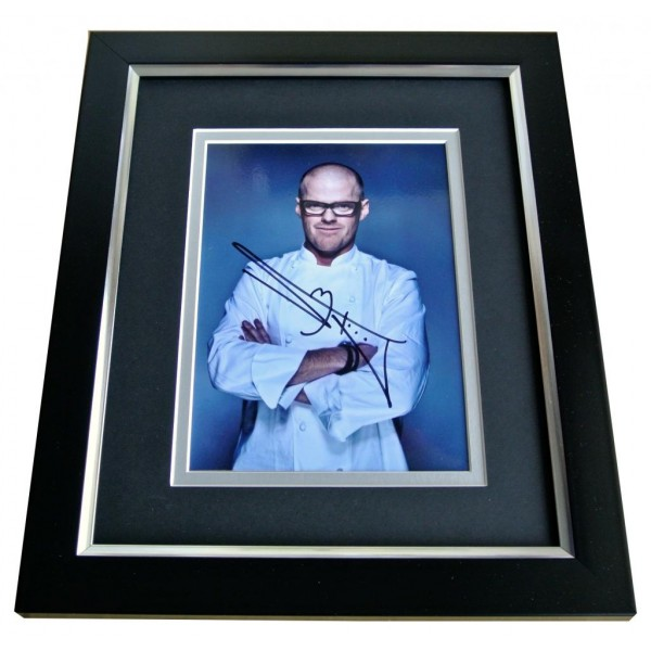 HESTON BLUMENTHAL SIGNED 10x8 FRAMED Photo Autograph Display FAT DUCK CHEF COA PERFECT GIFT