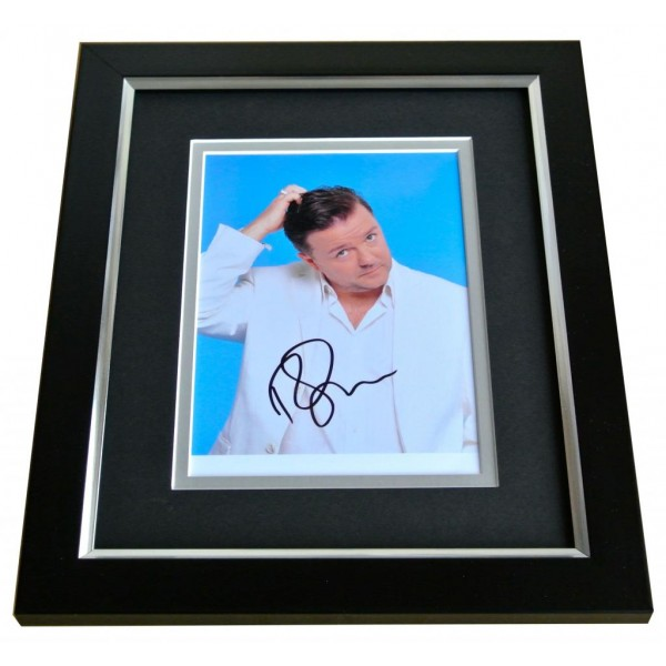 RICKY GERVAIS SIGNED 10x8 FRAMED Photo Autograph Display OFFICE MUPPETS TV COA PERFECT GIFT