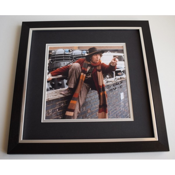 Tom Baker SIGNED Framed LARGE Square Photo Autograph display Dr Who     Memorabilia  AFTAL & COA perfect gift