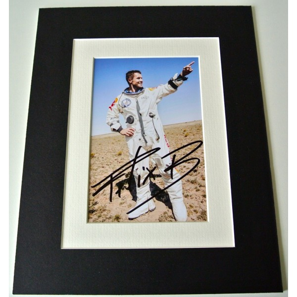 Felix Baumgartner Signed Autograph 10x8 photo mount display Space Jump & COA