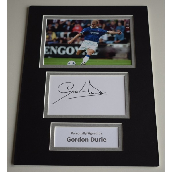 Gordon Durie Signed Autograph A4 photo mount display Rangers Football AFTAL & COA Memorabilia PERFECT GIFT
