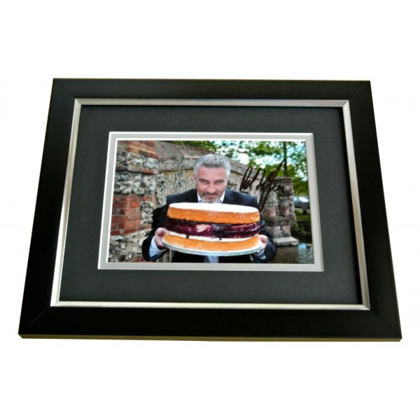 PAUL HOLLYWOOD SIGNED 10x8 FRAMED Photo Autograph Display BRITISH BAKE OFF & COA PERFECT GIFT