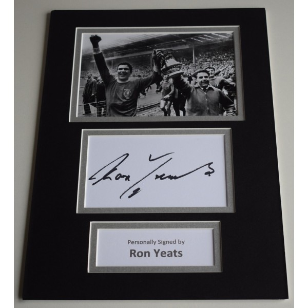 Ron Yeats Signed Autograph A4 photo mount display Liverpool Football  AFTAL & COA Memorabilia PERFECT GIFT
