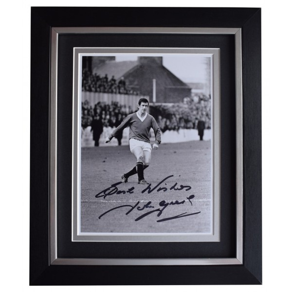 John Greig SIGNED 10x8 FRAMED Photo Autograph Display Rangers Football AFTAL  COA Memorabilia