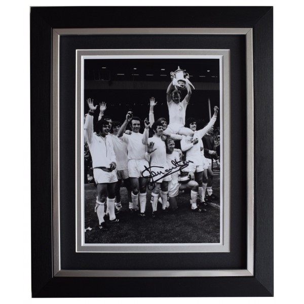 Jack Charlton SIGNED 10x8 FRAMED Photo Autograph Display Leeds United  AFTAL  COA Memorabilia
