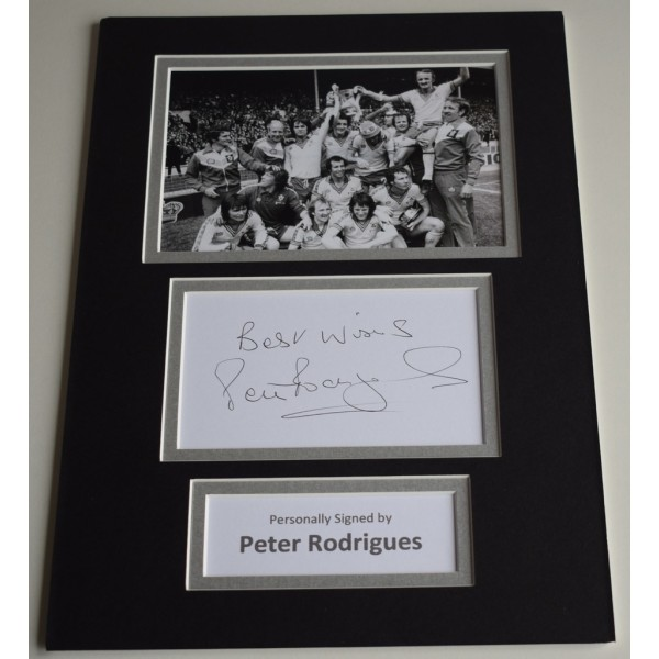 Peter Rodrigues Signed Autograph A4 photo mount display Southampton Football AFTAL & COA Memorabilia PERFECT GIFT