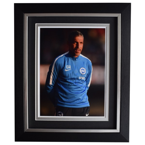 Chris Hughton SIGNED 10x8 FRAMED Photo Autograph Display Brighton & Hove Albion AFTAL  COA Memorabilia