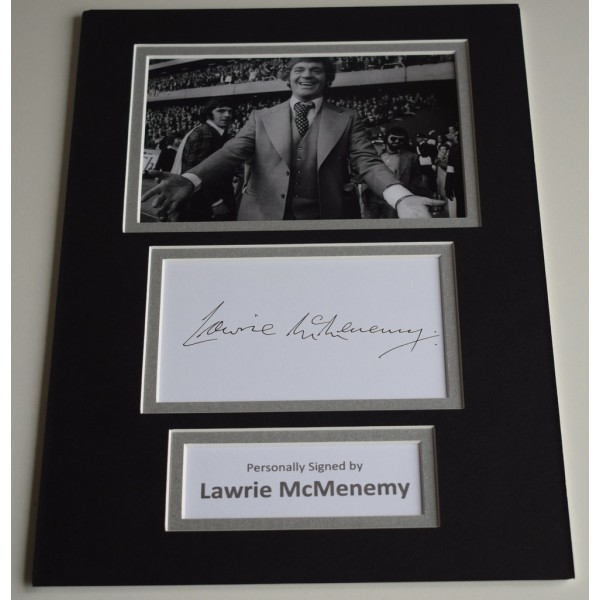 Lawrie McMenemy Signed Autograph A4 photo mount display Southampton Football AFTAL & COA Memorabilia PERFECT GIFT