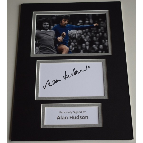 Alan Hudson Signed Autograph A4 photo mount display Chelsea Football AFTAL & COA Memorabilia PERFECT GIFT