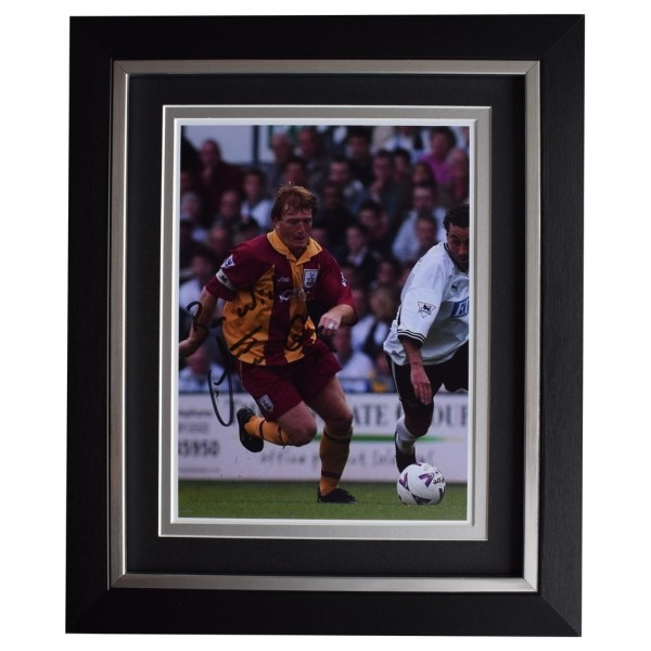 Stuart McCall SIGNED 10x8 FRAMED Photo Autograph Display Bradford City Football AFTAL  COA Memorabilia PERFECT GIFT