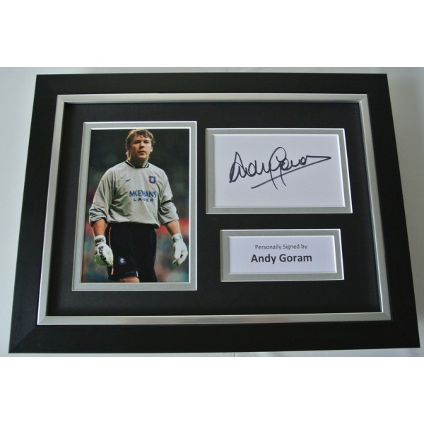 Andy Goram Signed A4 FRAMED photo Autograph display Rangers Football PROOF & COA AFTAL SPORT Memorabilia PERFECT GIFT
