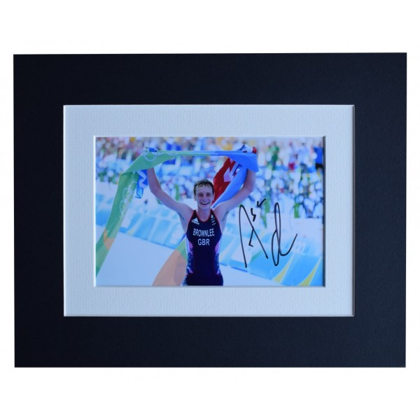 Alistair Brownlee Signed Autograph 10x8 photo display Olympic Triathlon  AFTAL  COA Memorabilia PERFECT GIFT