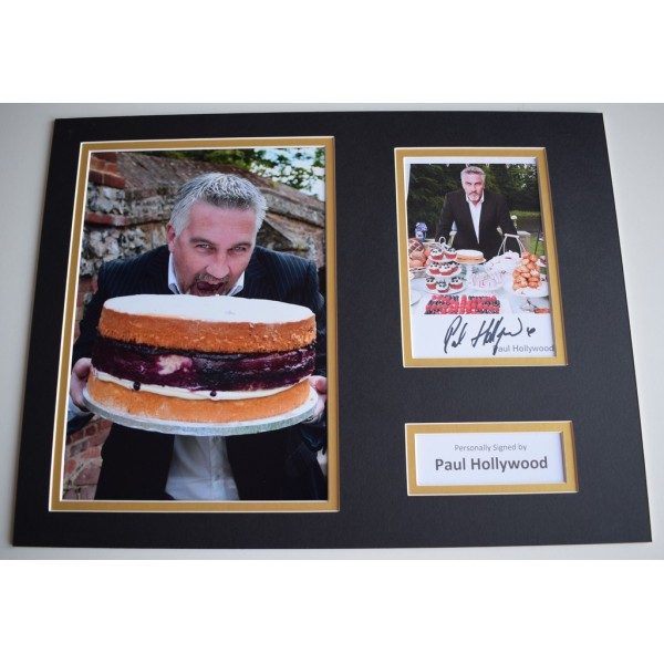 Paul Hollywood SIGNED autograph 16x12 photo display Bake Off TV   Memorabilia  AFTAL & COA perfect gift
