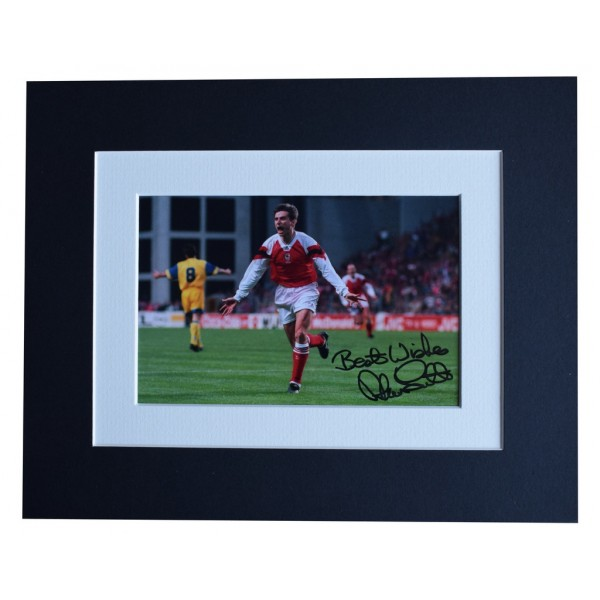 Alan Smith Signed Autograph 10x8 photo display Arsenal Football  AFTAL  COA Memorabilia PERFECT GIFT