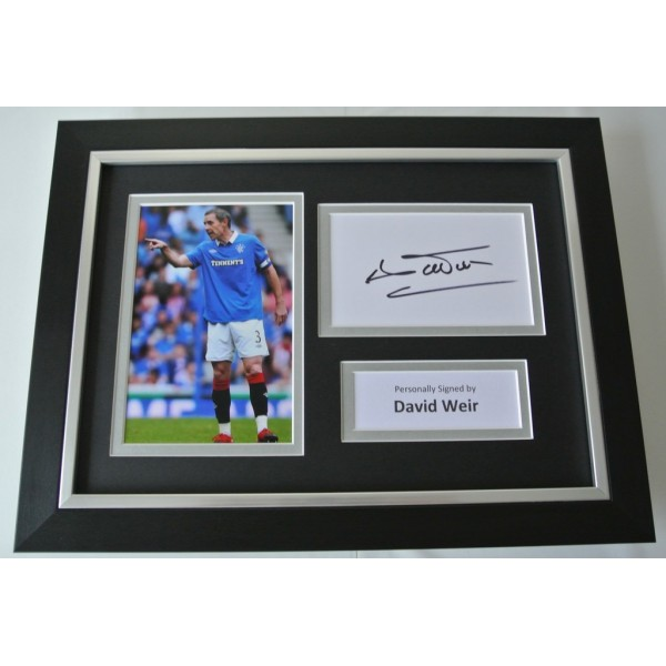 David Weir Signed A4 FRAMED photo Autograph display Rangers Football  COA AFTAL SPORT Memorabilia PERFECT GIFT