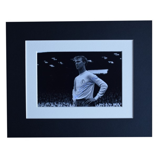 Jack Charlton Signed Autograph 10x8 photo display Leeds United Football  AFTAL  COA Memorabilia