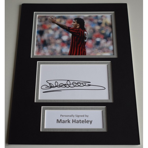 Mark Hateley Signed Autograph A4 photo mount display AC Milan Football   AFTAL  & COA Memorabilia PERFECT GIFT