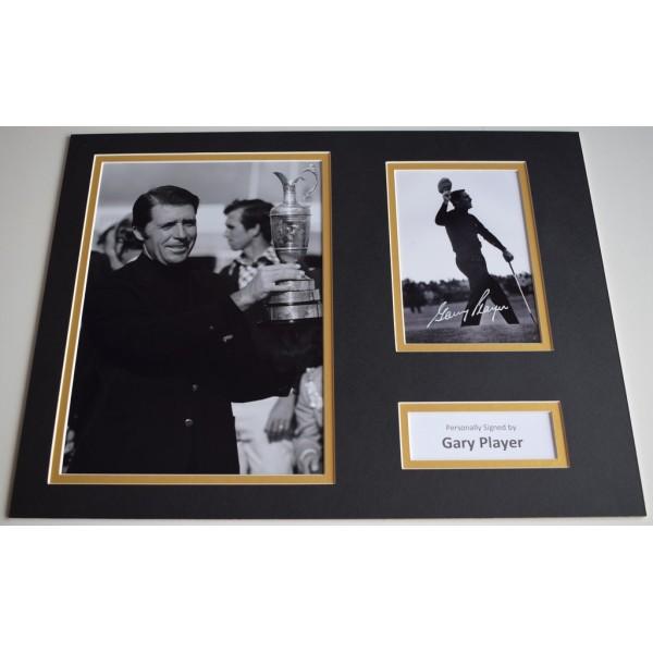 Gary Player SIGNED autograph 16x12 photo display Golf Sport  Memorabilia  AFTAL & COA perfect gift