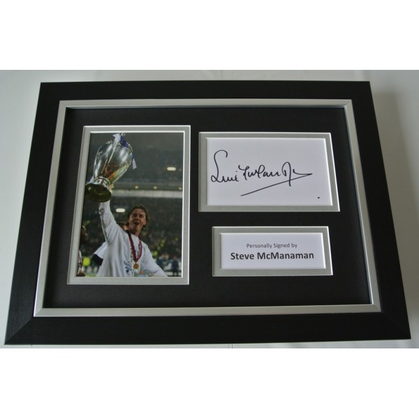 Steve McManaman Signed A4 FRAMED photo Autograph display Real Madrid  COA AFTAL SPORT Memorabilia PERFECT GIFT