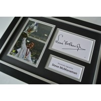 Steve McManaman Signed A4 FRAMED photo Autograph display Real Madrid  COA AFTAL SPORT Memorabilia PERFECT GIFT