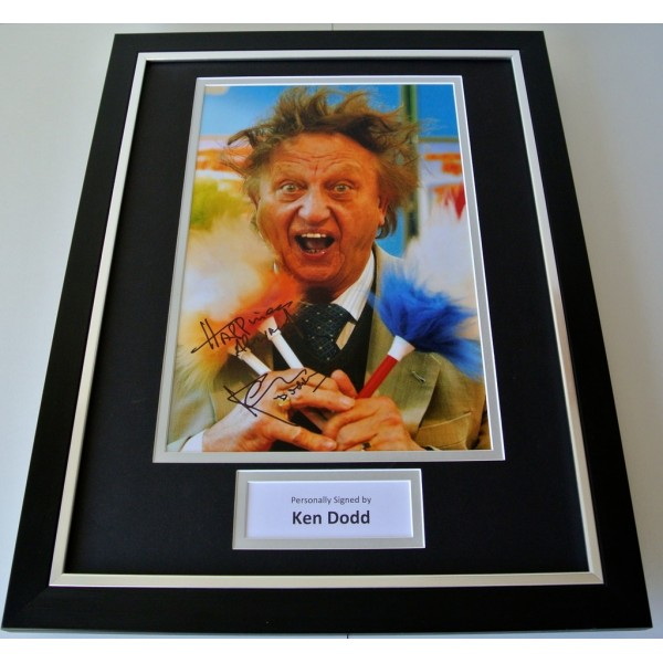 Ken Dodd SIGNED FRAMED Photo Autograph 16x12 display Comedy Liverpool TV & COA