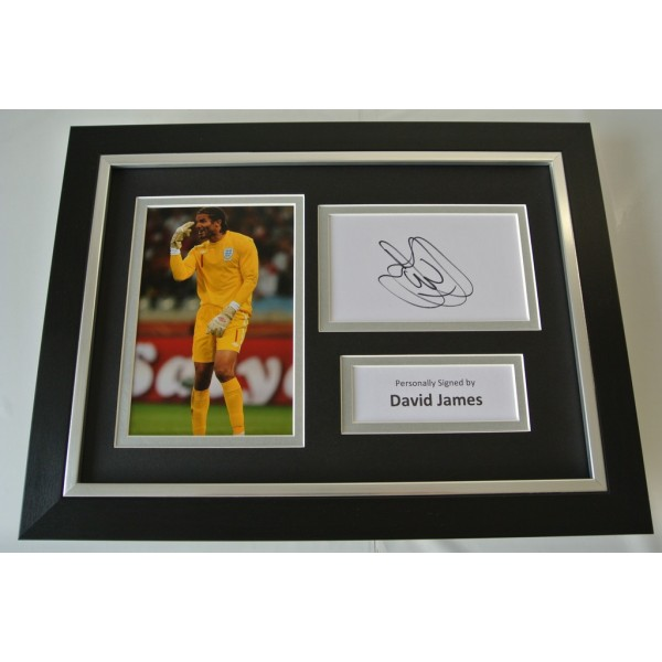 David James Signed A4 FRAMED photo Autograph display England Football  COA AFTAL SPORT Memorabilia PERFECT GIFT