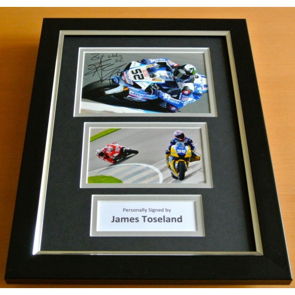 James Toseland Signed A4 FRAMED Photo Autograph Display Superbikes Racing COA PERFECT GIFT