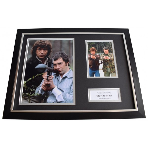 Martin Shaw SIGNED FRAMED Photo Autograph 16x12 display Professionals Memorabilia  AFTAL & COA perfect gift