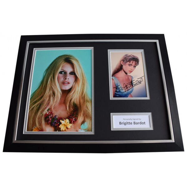 Brigitte Bardot SIGNED FRAMED Photo Autograph 16x12 display Film Memorabilia  AFTAL & COA perfect gift