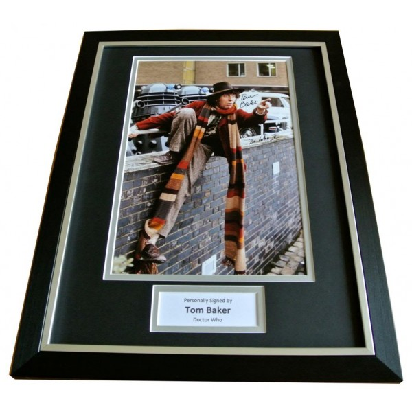 TOM BAKER SIGNED & FRAMED AUTOGRAPH PHOTO MOUNT DISPLAY DOCTOR WHO TIME LORD COA