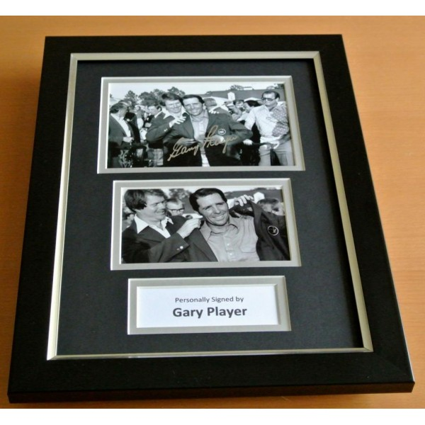 Gary Player Signed A4 FRAMED Photo Autograph Display Golf Open Champion & COA PERFECT GIFT