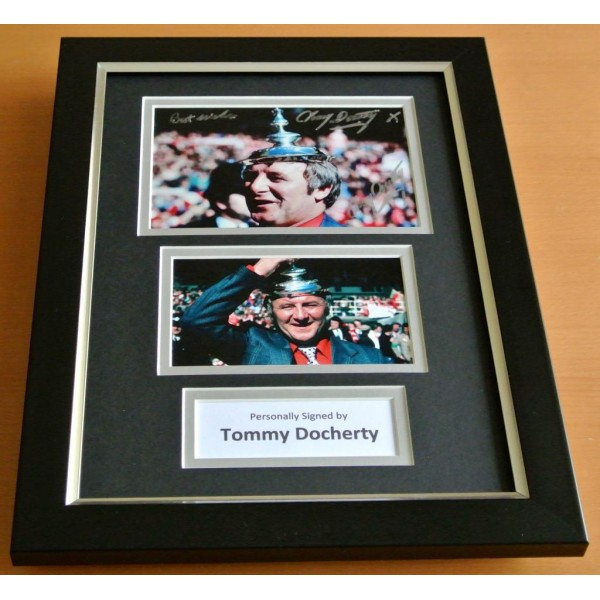 Tommy Docherty Signed A4 FRAMED Photo Autograph Display Manchester United & COA PERFECT GIFT