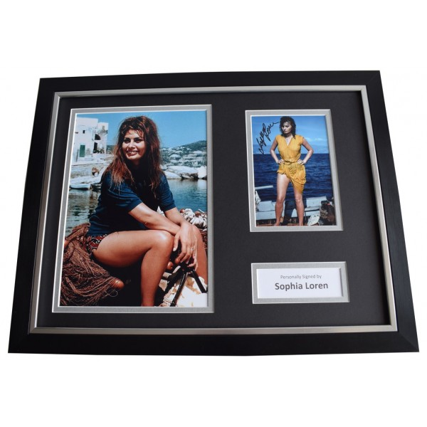 Sophia Loren SIGNED FRAMED Photo Autograph 16x12 display Film Memorabilia  AFTAL & COA perfect gift