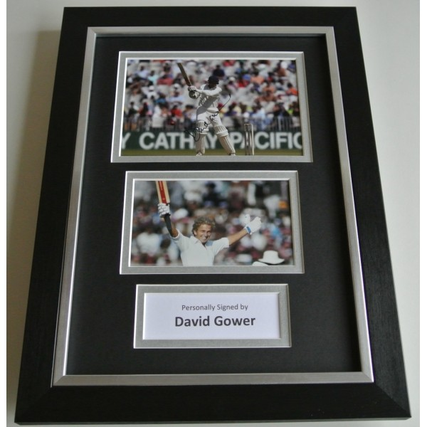 David Gower SIGNED A4 FRAMED Photo Autograph Display England Cricket  COA AFTAL SPORT Memorabilia PERFECT GIFT