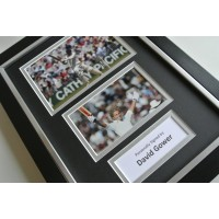 David Gower SIGNED A4 FRAMED Photo Autograph Display England Cricket  COA AFTAL SPORT Memorabilia PERFECT GIFT