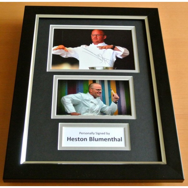 Heston Blumenthal Signed A4 FRAMED Photo Autograph Display Fat Duck TV Chef COA PERFECT GIFT