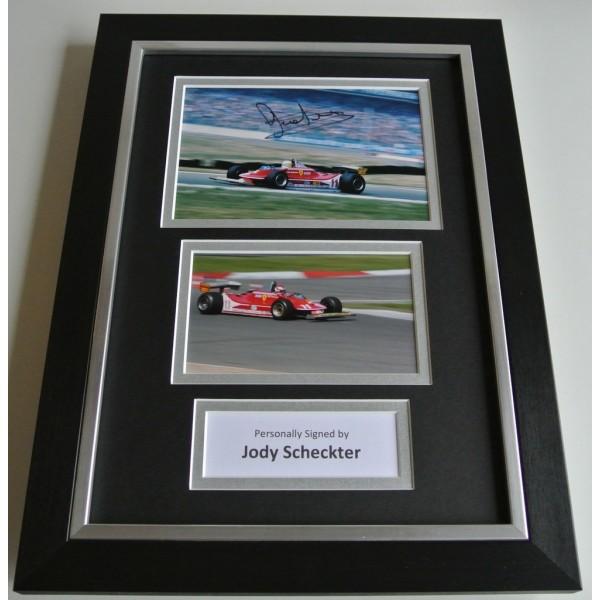 Jody Scheckter SIGNED A4 FRAMED Photo Autograph Display Formula 1 Racing & COA AFTAL SPORT Memorabilia PERFECT GIFT